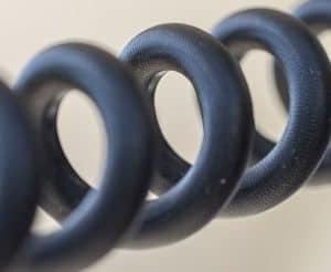 black custom coil cord